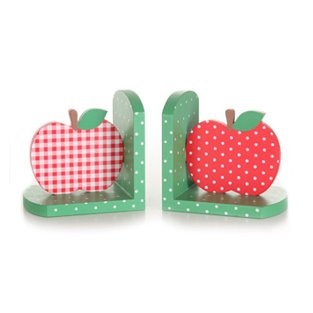 Gorgeous red apple bookends