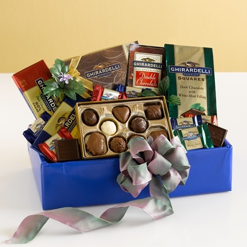 49 best gifts for business associates images on pinterest basket ghirardelli celebration chocolate gift basketschocolate negle Gallery