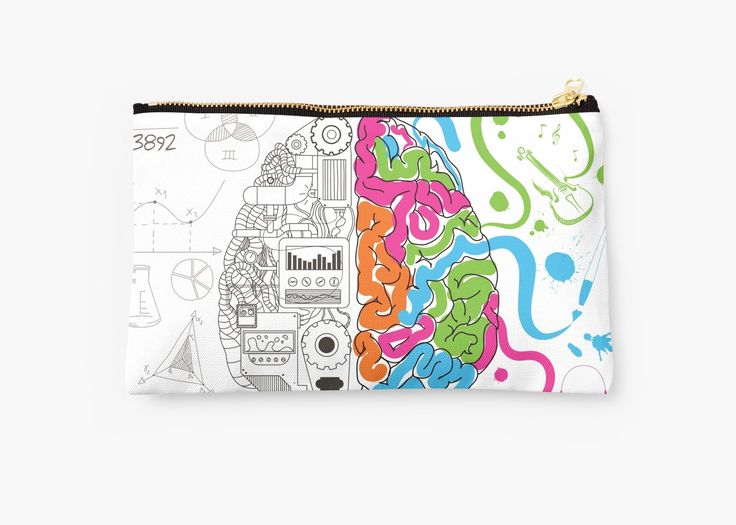 Brain Creativity Illustration by Gordon White | Creative Brain Chemistry Small Studio Pouch Available @redbubble @redbubblecreate  ---------------------------  #redbubble #sticker #brain #creative #creativity #chemistry #nerd #geek #cute #adorable #studiopouch #pouch #bag  ---------------------------  http://www.redbubble.com/people/blackbox23/works/23716610-creative-brain-chemistry?asc=u&p=pouch&rel=carousel