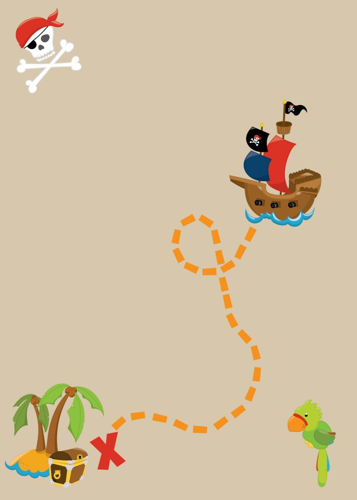 Free Printable Pirate Party Invitations , just type in your text in any photo editor app
