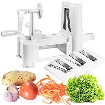 Safstar Tri-Blade Spiral Vegetable Slicer Cutter Plastic Kitchen Tool Review 2017