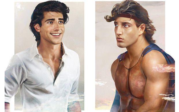 Príncipe Eric (A Pequena Sereia) e Hercules.