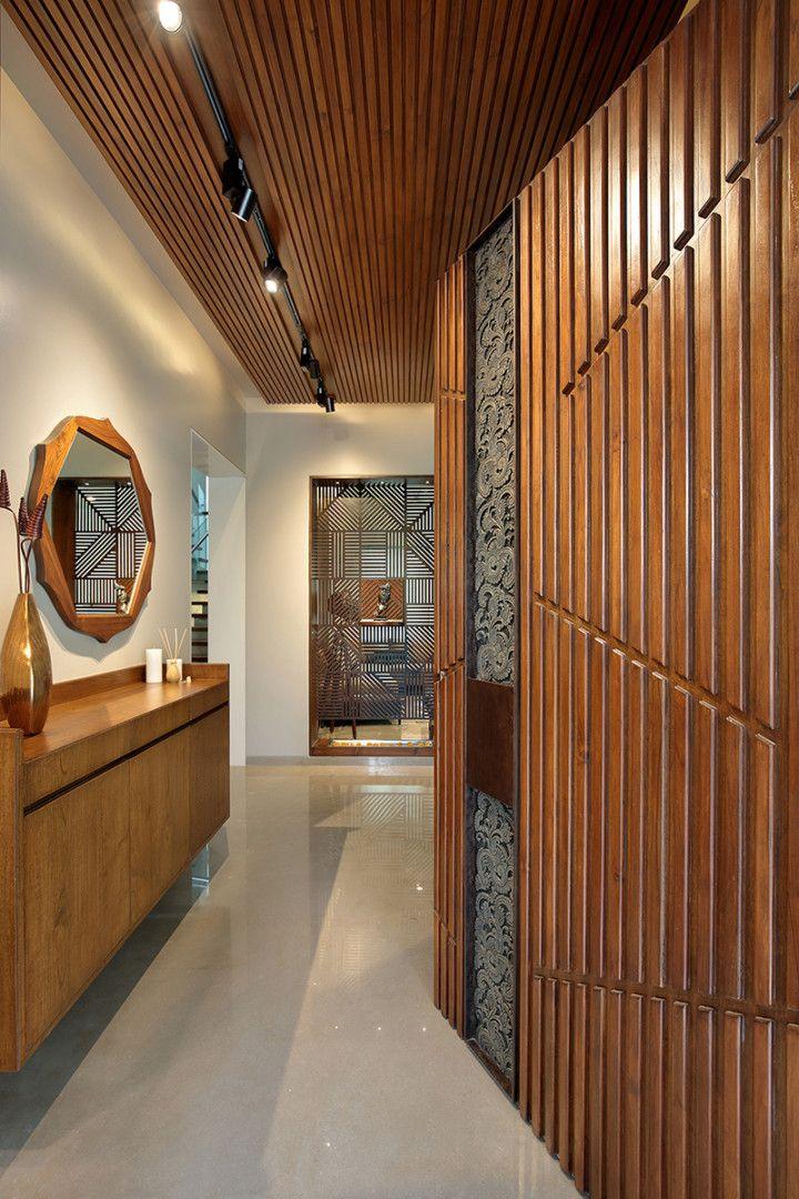 Krishnashray A T Associates Apartment Entrance House Entrance Foyer Design