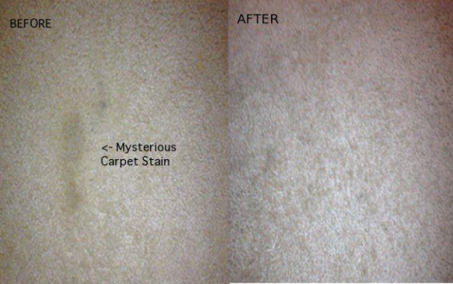 Teppich Flecken entfernt man mit einer Mischung von Wasser und Essig im Verhältnis 2:1. Einen feuchten Lappen dann über die Stelle legen und mit einem Bügeleisen 30 Sekunden mit Dampf die Stelle bearbeiten. Schon ist der Teppich sauber.