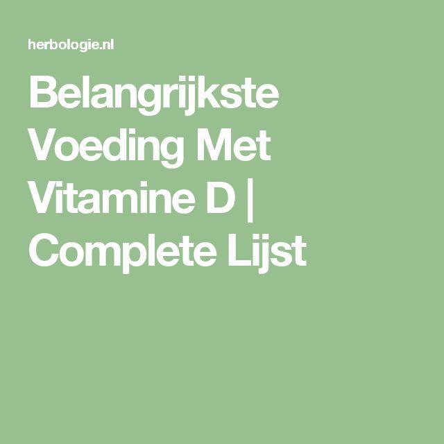 Belangrijkste Voeding Met Vitamine D   Complete Lijst