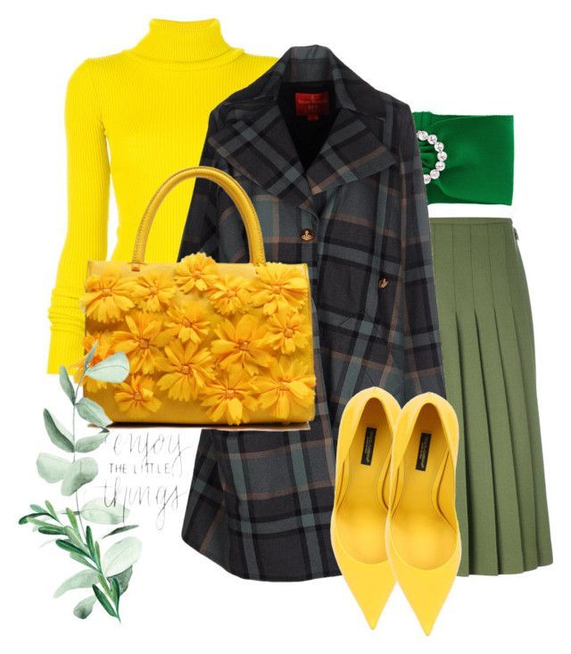 """#8"" by lucycons on Polyvore featuring Alessandra Rich, Le Kilt, Jacquemus, Vivienne Westwood Red Label, Dolce&Gabbana and vintage"