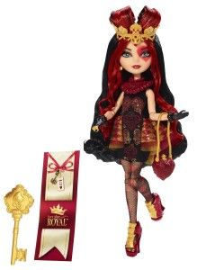 Ever After High Dolls: Lizzie Hearts Doll Lizzie Hearts, is the daughter of the Queen of Hearts. Her exquisite outfit has rich details, luxe fabrics and spellbinding sparkling accents. A lovely heart theme is carried through her queenly accessories. Lizzie feels a little misunderstood  and cannot understand why she is thought of as a villian.  http://awsomegadgetsandtoysforgirlsandboys.com/ever-after-high-dolls/ Ever After High Dolls: Lizzie Hearts Doll