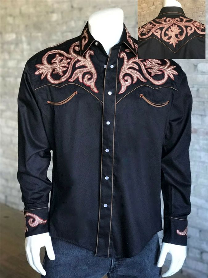 992a624b Men's Tooled Embroidery Cotton Gabardine Western Shirt in 2019 | DM ...