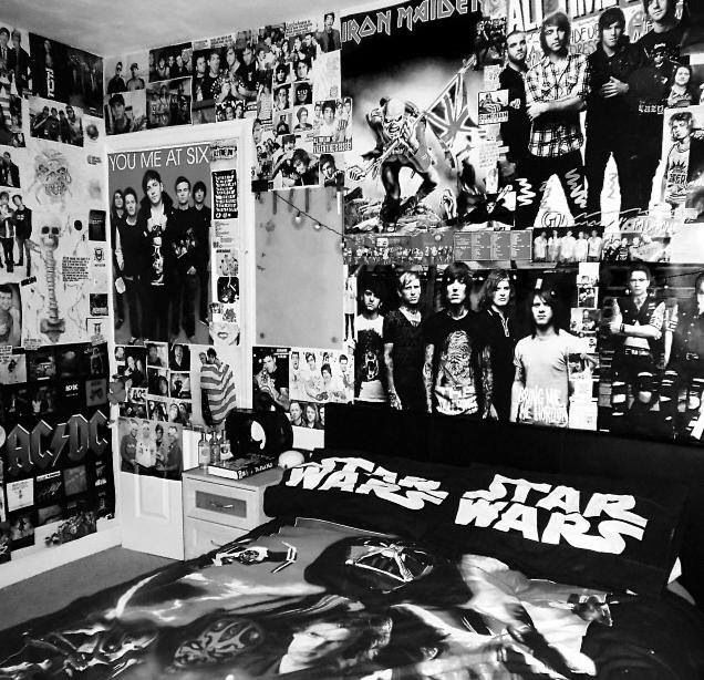 Image result for teen girls hard rock wall decor bedroom for Band bedroom ideas