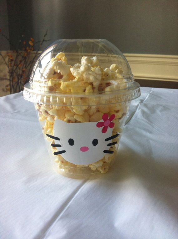 Hello Kitty Popcorn/candy Cups - set of 12 on Etsy, $12.99