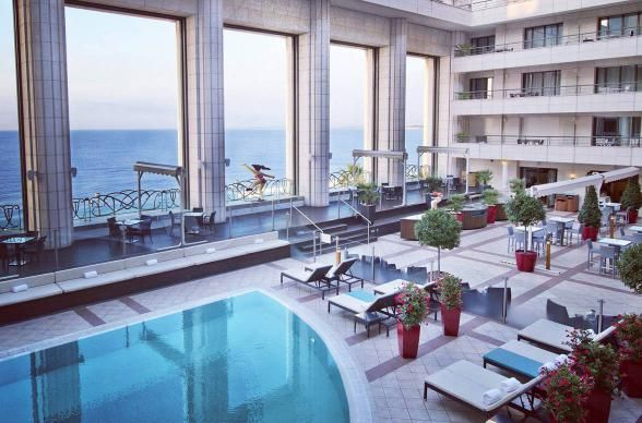 Overlooking the Bay of Angels and the azure seas, this 5-star hotel is amazing for ladies who love to lounge. There's a massive sauna and Turkish bath, a roofdeck pool overlooking the Mediterranean and easy access to the beaches of Nice. | Photo Credit: Hyatt Regency Nice Palais de la Mediterranee