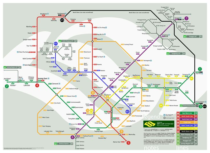 Singapore MRT System Map Looking Into The Future Information - Japan map mrt