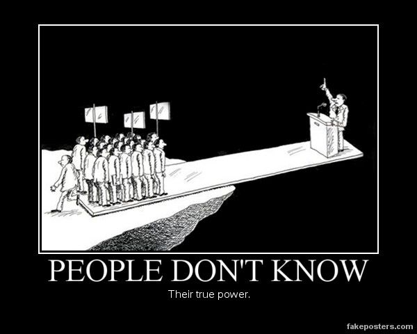 People Don't Know - Demotivational Poster