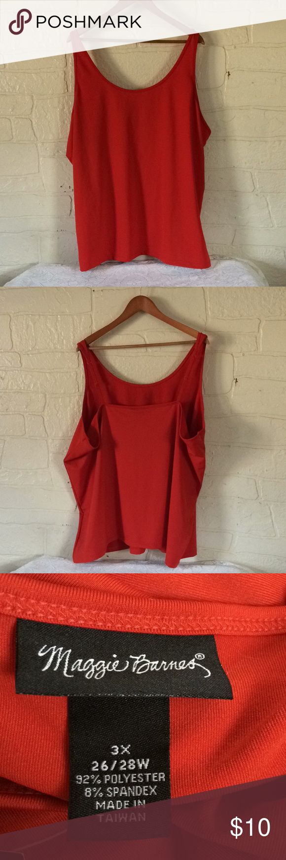 I just added this listing on Poshmark: Maggie Barnes Plus Size Red Tank Top. #shopmycloset #poshmark #fashion #shopping #style #forsale #Maggie Barnes #Tops
