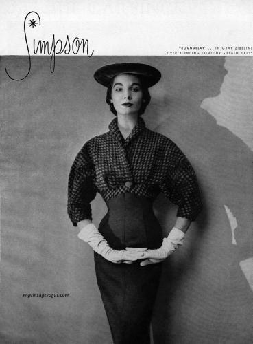Sherry Nelms wearing Adele Simpson 1953