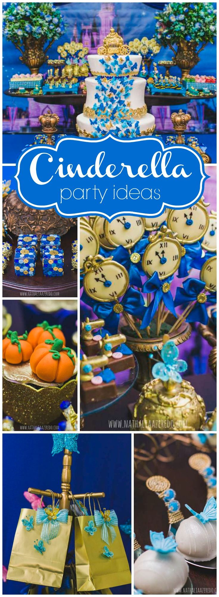 Such a stunning Cinderella party based on the new Disney movie! See more party ideas at CatchMyParty.com!