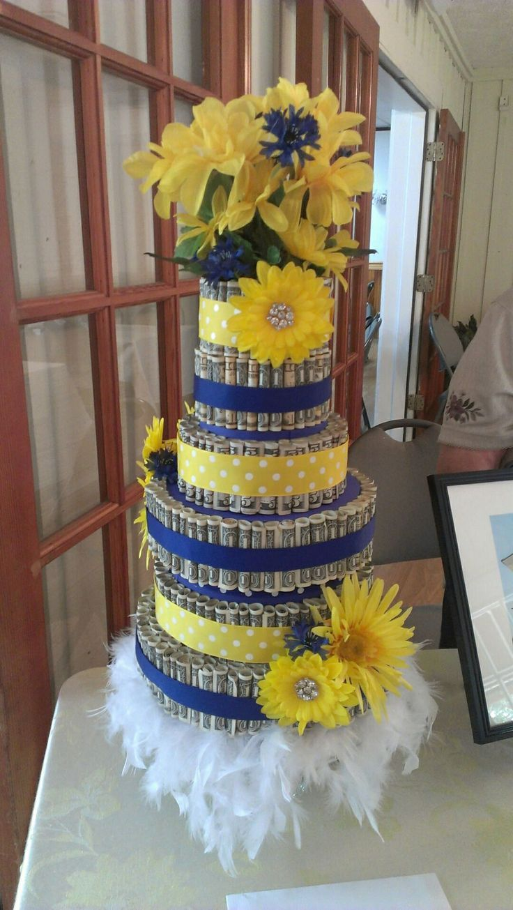 17 best images about gifts money trees cakes etc on pinterest 50th birthday cakes dollar - Money cake decorations ...