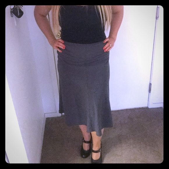 Gray business casual skirt Perfect condition never been worn Skirts Asymmetrical
