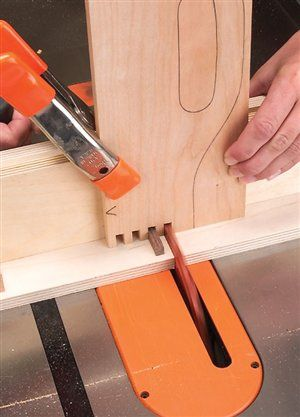 Tablesaw Box Joints, shop made jig. by Tim Johnson via american woodworker