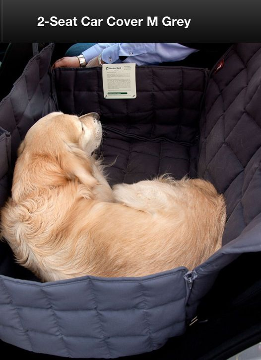 Car seat cover for dogs~This is a little different.  I like the quilting,  the side that comes up by the door, and a divider.