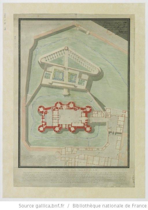Plan de la Bastille... démolie par P. -F. Palloy, patriote et mtre maçon, qui en a levé ce plan et l'a donné aux 83 départemens du Royaume le 14 juillet 1790 - 1