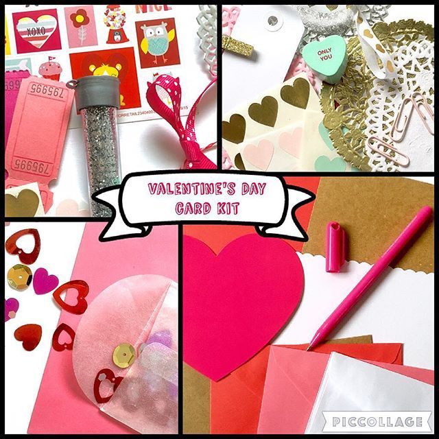 Get your DIY Valentine's Day card kit from Stacey'sLove! Create four of your own Valentine's cards with included stickers, doilies, stamps, glitter, confetti, paper die cuts, & ribbon. Send some love this year! #happyvalentinesday #valentines #valentinescard #february14 #snailmail #greetingcards #create #diy #embellish #decorate #crafts #pinkandred #happymail #shopstaceyslove #etsyshop