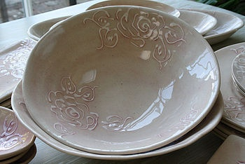Wonki Ware rose salad bowl by The Rose Shack, £24, Not on the High Street