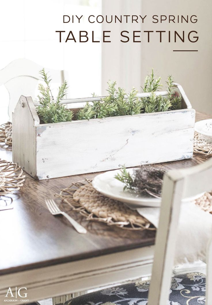 Take a plain wooden toolbox and turn it into a stylish dining room accessory with this DIY Country Spring Table Setting. Use layers of paint and a wax stick to create a lightly-distressed, farmhouse-chic look. You use your toolbox as an indoor planter or fill it with some cute decorations of your choice.