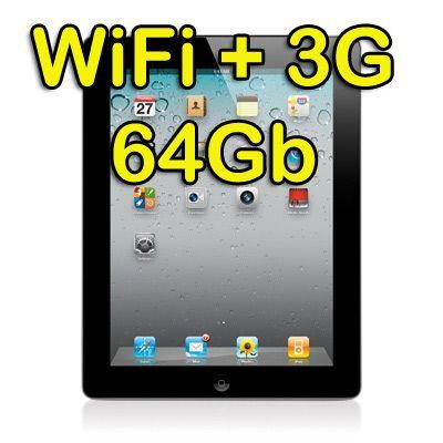 Apple iPad 2 Wi-Fi  3G 64GB Tablet con GPS (Seconda generazione) Webcam Nero - 387€