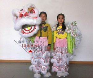 high-quality-pur-Lion-Dance-Costume-pure-wool-Southern-Lion-kid-size-For-two-kid