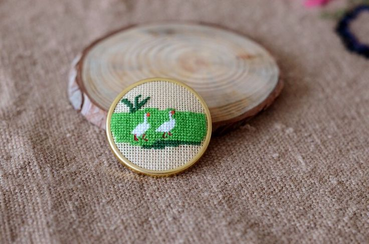 A personal favorite from my Etsy shop https://www.etsy.com/listing/223015943/geese-brooch