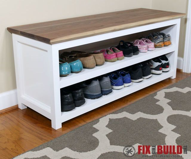 In this Instructable I'll show you how I made this Shoe Storage Bench. It's a great way to capture all the shoes in our entryway and has been a welcome addition to the house. It's made out of wood from the home center (other than the walnut top which could be subbed for other material) and has easy construction methods.Check out the Instructable and if you want detailed plans for the build you can head over to my DIY Shoe Storage Bench post on my site.And if you like the build vi...