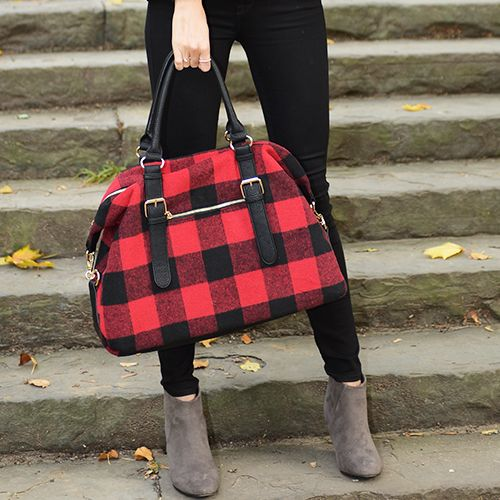 Buffalo check weekender tote #charmingcharlie