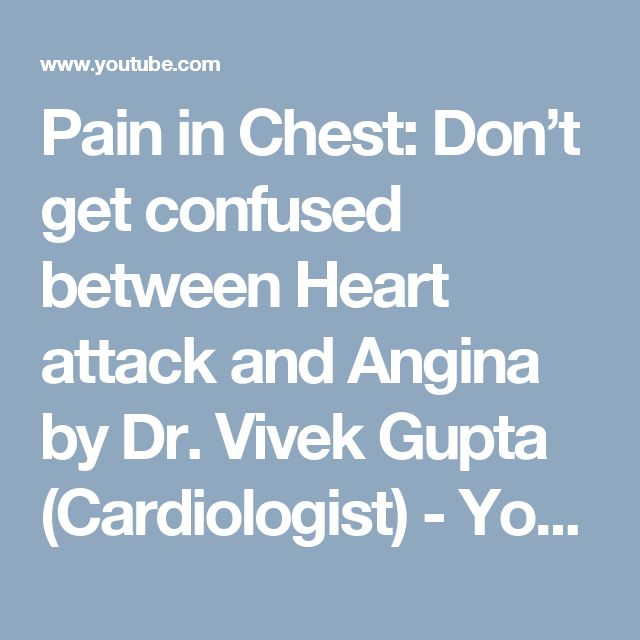 Pain in Chest: Don't get confused between Heart attack and Angina by Dr. Vivek Gupta (Cardiologist) - YouTube