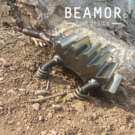 #metalart #echidna made out of a #planetarygear from #catdumptruck and more. #upcycling at its best. Check out our #etsyshop #beamorfinedesign #beamorcreative #beamor Check out this item in my Etsy shop https://www.etsy.com/au/listing/249467320/echidna-animal-metal-art
