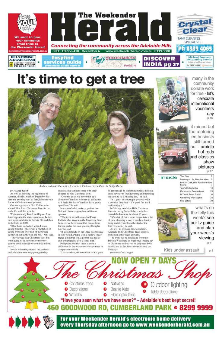 Latest edition out now. Visit   http://adelaidehills.realviewtechnologies.com/