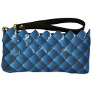 "Rebagz ""Small Talk Clutch"" in Midnight has a removable remnant faux leather strap. $25"