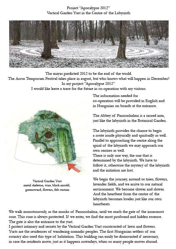 Nemeth Hajnal Aurora: 2012 Apocalypse Project, Pannonhalma