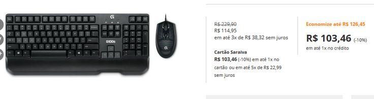 Combo Logitech Teclado  Mouse G100S << R$ 10346 >>