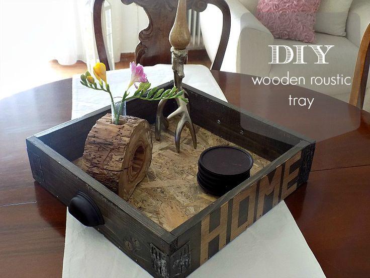 Ξύλινος ρουστικ δίσκος...DIY wooden rustic tray