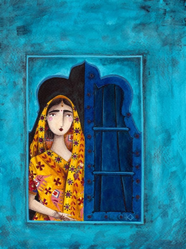 kürti andrea #imaginaryjourney #india #illustration