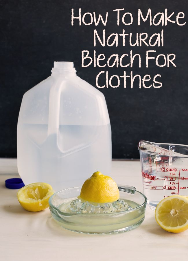 Amazing! Forget about the chemical products from the market and take care more of your health! Find out how to prepare homemade natural bleach for clothes!