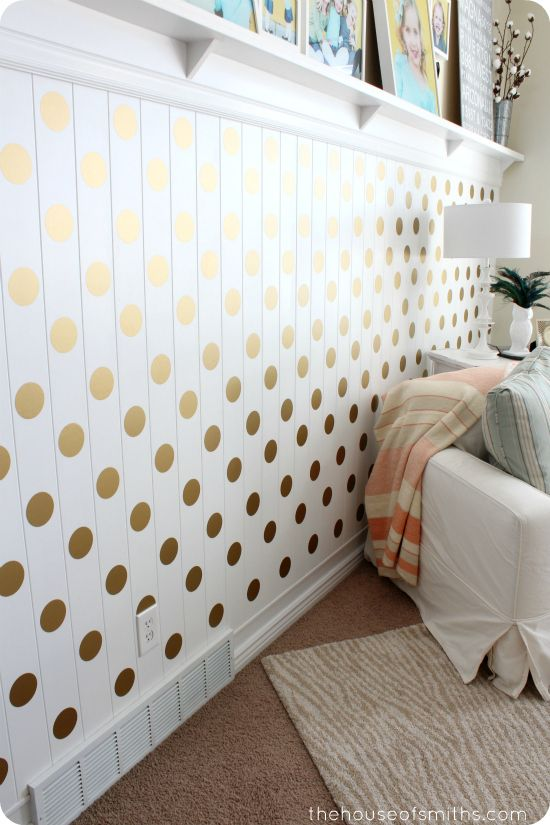 Best 25 wainscoting nursery ideas on pinterest for Polka dot living room ideas