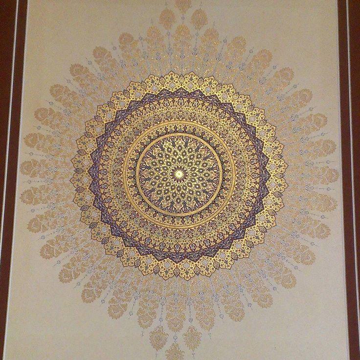#تذهیب #نگارگری #هنر ایرانی#آقامیری #زرنگاره #iran #illumination #hattat #persian painting