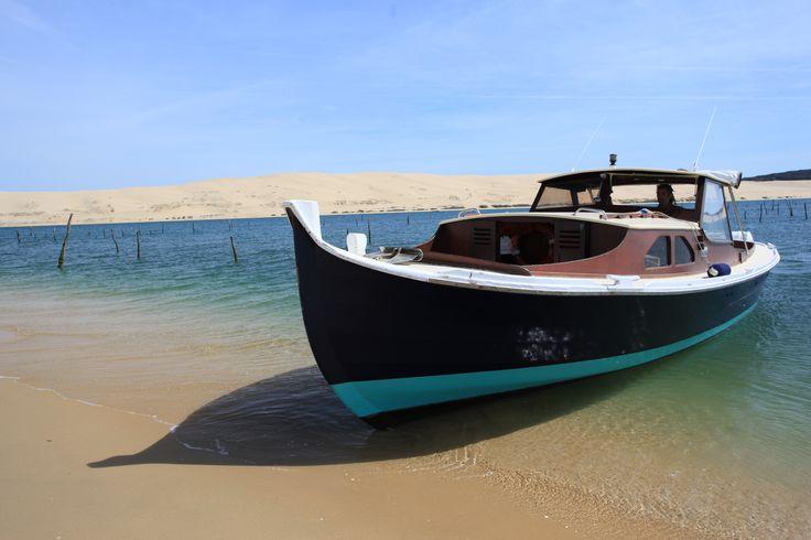 Pinasse, bateaux typique du Bassin d'Arcachon. Pinasse, typical boat of Arcachon Bay