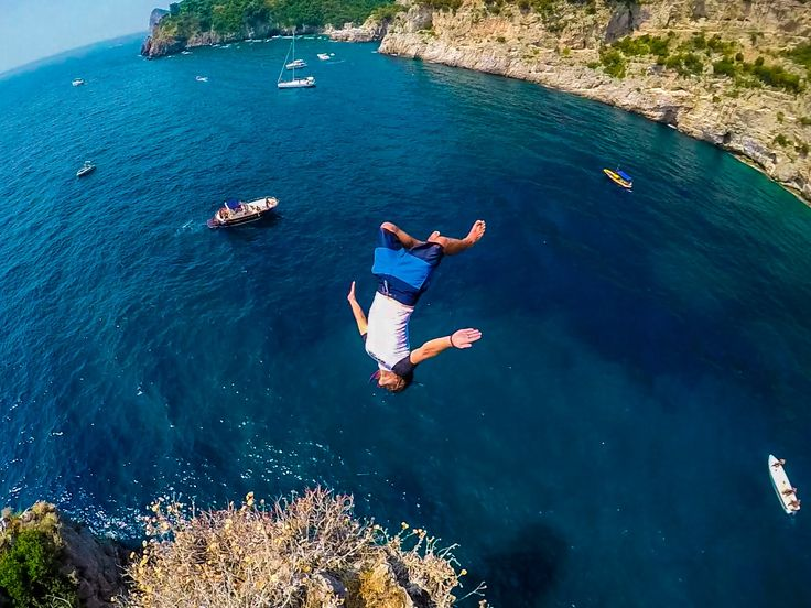 @devinsupertramp  Cliff Jumping in Capri, Italy, with Contiki.... music by @Mikey Wax