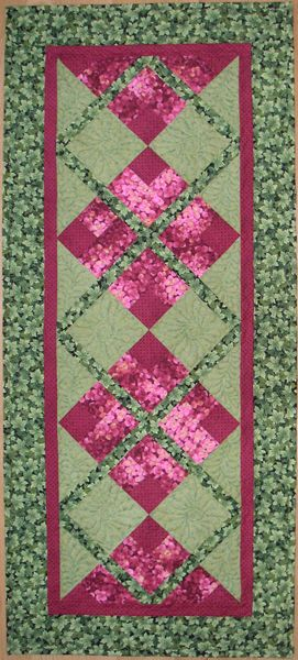 floral trellis table runner large
