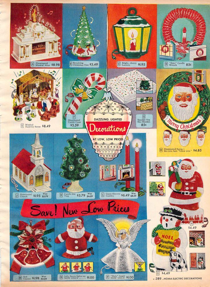 1952 Sears Christmas Catalog - vintage Christmas decorations