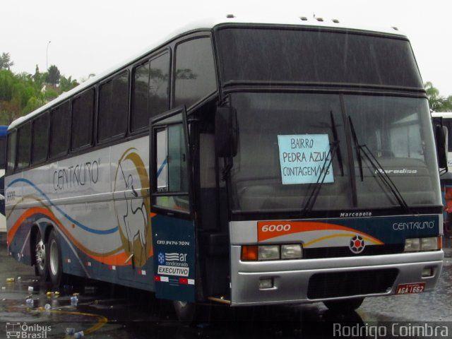 Ônibus da empresa Centauro Turismo, carro 6000, carroceria Marcopolo Paradiso GV 1150, chassi Volvo B10M. Foto na cidade de Aparecida-SP por Rodrigo Coimbra, publicada em 04/11/2012 17:27:49.