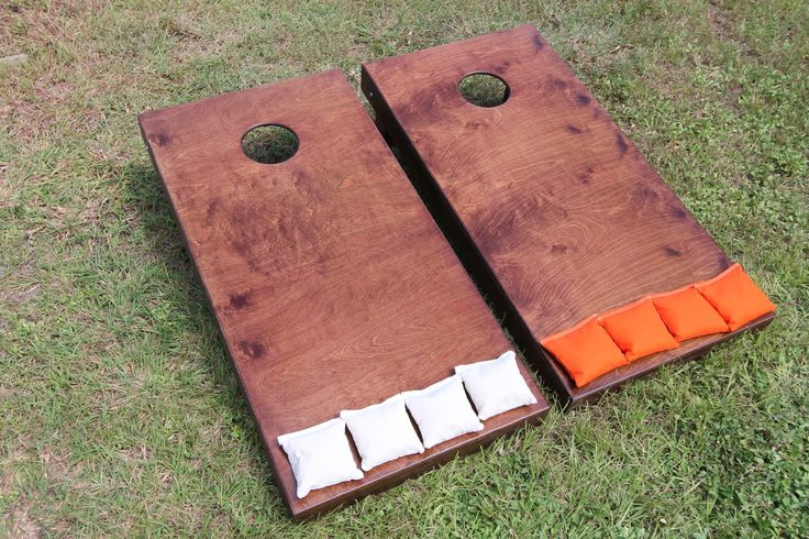 Cornhole board dimension | quality cornhole boards | stained cornhole game
